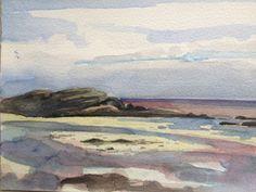 Sanna Bay 4. A5 Watercolour.
