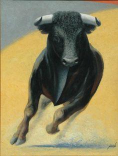 Manolo Prieto  -  Toro. Serie tauromaquia. 1958