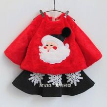 winter suits for girls kids children clothing sets skirts + sweatshirt 2015 2pcs winter Christmas clothing outfit(China (Mainland))