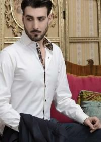 Italian men's cotton dress shirts luxury shirts made in Italy Wholesale