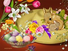 de – Your free picture community - - Ostern Easter Bunny Pictures, Easter Wallpaper, Gifs, Easter Art, Easter Printables, Coloring Easter Eggs, Vintage Easter, Holidays And Events, Free Pictures