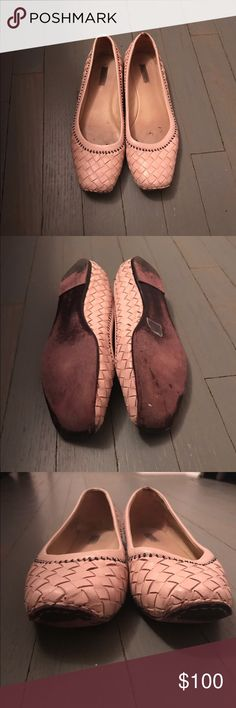 Bottega Veneta beige leather woven ballet flats Bottega Veneta leather woven beige ballet flats. If don't believe they are authentic, pay $39 to Posh Concierge for them to verify it. Bottega Veneta Shoes Flats & Loafers
