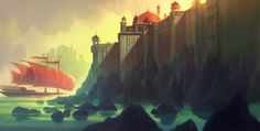 Sinbad: Legend of the Seven Seas (2003) Background concept art by Scott Wills.