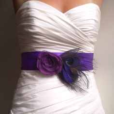 I'd probably add a black flower & not a huge fan of the dress but think this is a really cute idea.