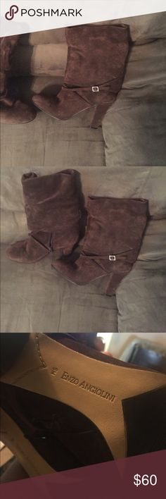 Enzo Angiolini leather upper boot PRICE FIRM Stylish leather heeled boots size 6 Enzo Angiolini Shoes Heeled Boots