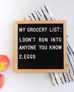 Because if you run into someone once, chances are you'll run into them again in aisle 7, 8, 9, 10, .... 22, 23, and in the checkout line. : @withlovefromding