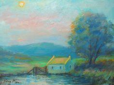 Stunning Colors Original Irish Landscape Oil Painting Listed American Beautiful! #Impressionism Irish Landscape, Impressionism, Oil, The Originals, American, Colors, Painting, Beautiful, Idea Paint