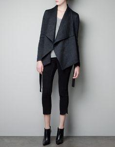 FADED WOOL STUDIO JACKET Zara December 2012 Linen Wool Polyamide