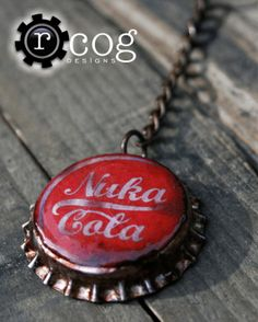 Nuka Cola Cap Keychain  Fallout Wasteland by RheasRenditions, $8.00