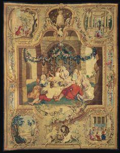 Hardwick Hall Green Velvet Bedroom Tapestry 1 Velvet
