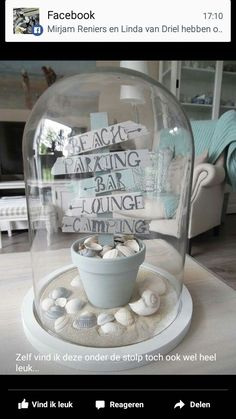 Trendy home decoratie stolp ideas Summer Decoration, Cloche Decor, Bday Gifts For Him, Creation Deco, The Bell Jar, Shell Crafts, Trendy Home, Craft Sale, Diy Birthday