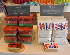 Mickey soap bars at Basin!