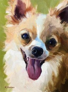 by Katya Minkina Oil ~ 8 x 6 Watercolor Animals, Watercolor Paintings, Cat Drawing, Dog Drawings, Animal Sketches, Cartoon Dog, Dog Portraits, Fine Art Gallery, Animal Paintings