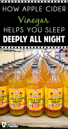 How Apple Cider Vinegar Helps You Sleep Deeply All Night. I put this simple recipe to the test and it worked so well I now don't go a day without taking this before bed. http://www.greenthickies.com/drinking-apple-cider-vinegar-helps-sleep-deeply-night/