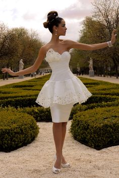 Luccio & Negretti Couture Short Wedding Dress