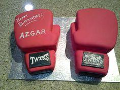 Kick boxing gloves cake Boxing Gloves Cake, Kick Boxing, 3d Cakes, Party Time, Kicks, Sugar, Treats, Homemade, Cookies