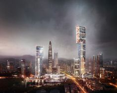 PLP Unveils Pearl River Delta's Tallest Building as Part of New Masterplan,Exterior Rendered View. Image Courtesy of PLP Architecture Typology Architecture, Architecture Wallpaper, Architecture Visualization, Futuristic Architecture, Architecture Design, Pearl River Delta, Eco City, Future Buildings, Tower Design