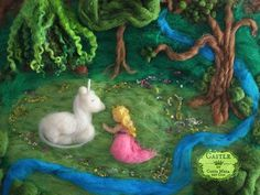 2424-150716-Nunu-Unicorn-and-Maiden-needle-felted-fairy---tale-fiber-art-fantasy-picture-detail-cropped2