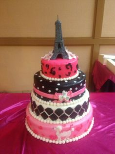 Cake Images With Name Pari : Cakes/Paris cakes on Pinterest Paris Cakes, Paris Party ...