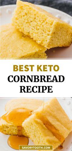 Keto Cornbread Recipe, Homemade Cornbread, Sweet Cornbread, Low Carb Bread, Keto Bread, Almond Meal, Almond Flour, Chef Recipes, Low Carb Recipes