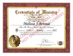 I just got #ordained online as a minister of the Universal Life Church!