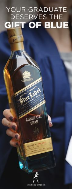 Celebrate your grad's journey with a custom engraved bottle of Johnnie Walker Blue Label, the rarest and most exclusive blend from the Johnnie Walker portfolio.