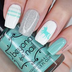 Everyone needs to rock a unicorn mani at some point! These mint unicorn nail decals are super cute and match perfectly with silver and white shades! Unicorn Nails, Nail Decals, Pretty Nails, Nail Polish, Mint, Beauty Nails, Community, Board, Check