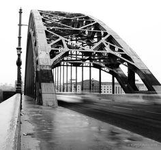 tyne bridge black and white - Google Search Personalised Labels, Black And White Google, George Washington Bridge, Newcastle, Google Search, Drawings, Travel, Custom Labels, Viajes
