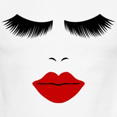 Fashion Face Silhouette, Red Lips, Lashes--DIGITAL Women's V-Neck T-Shirt ✓ Unlimited options to combine colours, sizes & styles ✓ Discover V-Neck T-Shirts by international designers now! Growing Out Eyebrows, How To Grow Eyebrows, Lash Quotes, Makeup Quotes, Makeup Humor, Younique, Zendaya Eyebrows, Woman Face Silhouette, Farmasi Cosmetics