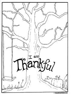 Thanksgiving Tree Thanksgiving Coloring Pages Free
