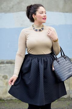Tanesha Awasthi from the popular blog Girl with Curves, shows off her flawless style. For more fashion images, go to - http://sussle.org/t/Fashion