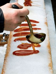 Vermont - maple syrup on snow
