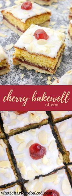 Cherry Bakewell Slices http://whatcharlottebaked.com/2018/03/19/cherry-bakewell-slices/