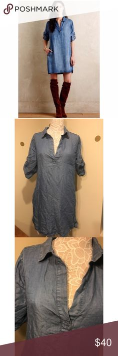 NEW✨PHILOSOPHY Chambray Dress (Size L) NEW✨PHILOSOPHY Chambray Dress. Dress has two front pockets and rolled up sleeves. New with tags. Perfect for any season! Wear with tights and boots in the winter! NO TRADES. BUNDLE DEALS!! Philosophy Dresses Asymmetrical