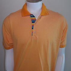 Robert Graham Polo Shirt Large LG Knowledge Wisdom Truth Mens Orange #RobertGraham