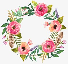 The colorful hand-painted garlands, Hand-painted Garlands, Hand Painted, Wreath PNG Image