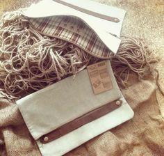 Pikku - cotton linen clutch