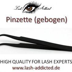 Pinzette gebogen für Wimpernverlängerung www.lash-addicted.de