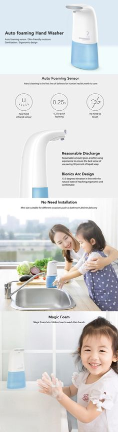 Xiaomi Mijia MiniJ Auto 0.25s Induction Foaming Hand Wash Washer Automatic Soap Dispenser For Baby