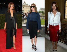 Modern French Fashion Muses   Carine Roitfeld. Formerly the editor in chief of French Vogue, and currently the force behind high-style magazine and website CR Fashion Book, Roitfeld, 58, is as revered for her personal style as she is for her work in the industry. Often spotted in sleek and daring all-black looks, Roitfeld embodies the very French ideology that women can only get sexier with age.   Read more: http://www.stylecaster.com/french-fashion/#ixzz31fYnDl8c