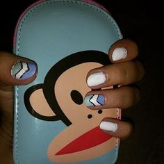 It's time for a new mani, Paul Frank style! Take a looksy at these cute nails from Carolyn F.!