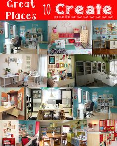 An amazing collection of Sewing Room Ideas via @The Seasoned Home #saygdayparty