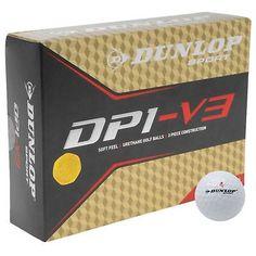 Dunlop Sport DP1-V3 Soft Feel 3 Piece Golf Balls 12 Pack White New Golf 6e72d7dd6