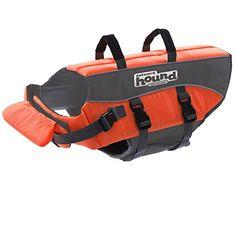 Outward Hound Kyjen 22020 Ripstop Dog Life Jacket Quick Release Easy-Fit Adjustable Dog Life Preserver, Medium, Orange ** Visit the image link more details.