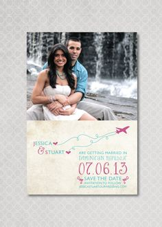 Destination Wedding Save the Date Magnet, Photo, Beach. $15.00, via Etsy.