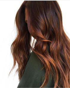 Long Wavy Ash-Brown Balayage - 20 Light Brown Hair Color Ideas for Your New Look - The Trending Hairstyle Brown Hair Balayage, Hair Color Balayage, Hair Highlights, Ombre Hair, Caramel Highlights, Copper Balayage Brunette, Color Highlights, Brown Hair With Copper Highlights, Auburn Balayage Copper