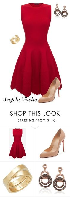 Untitled #996 by angela-vitello on Polyvore featuring Alexander McQueen, Christian Louboutin, Cartier and Suzy Levian