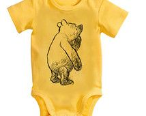 Winnie the Pooh Baby Clothes  Vintage Winnie the Pooh Bodysuit