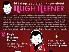 16 Unknown Facts About Hugh Hefner (Infographic) - PicsGrid
