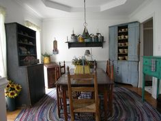 Dining Room filled with beautiful primitives